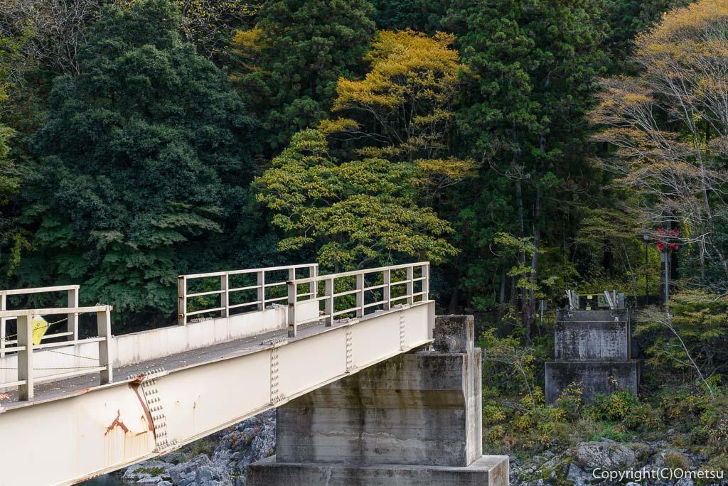流された、御岳小橋