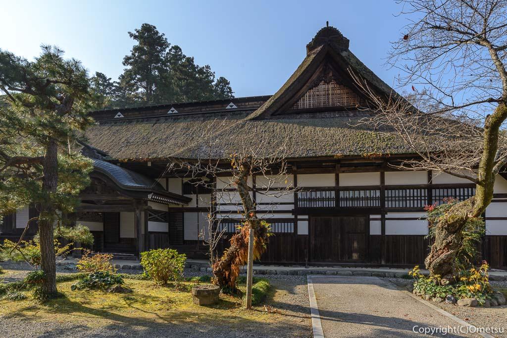 あきる野市・広徳寺の本堂