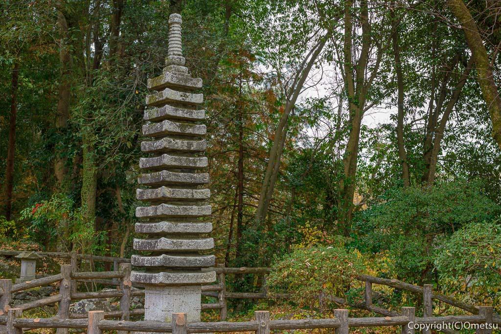 青梅・日向和田臨川庭園の石柱