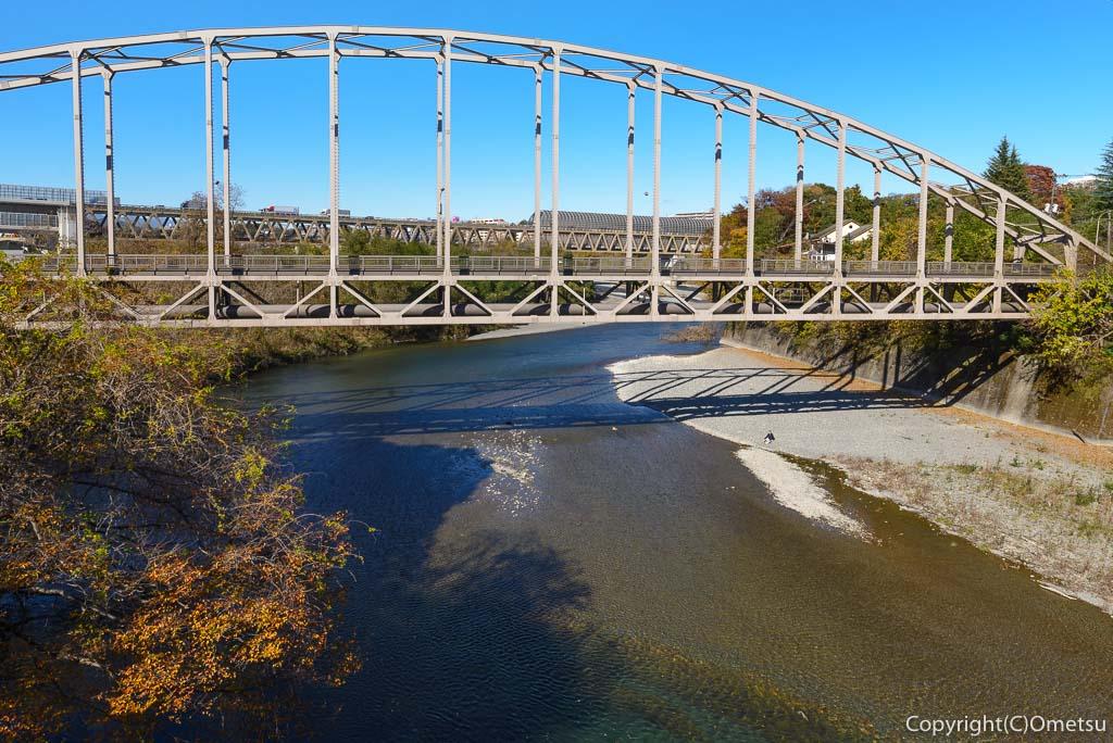 青梅市・多摩川橋からの展望