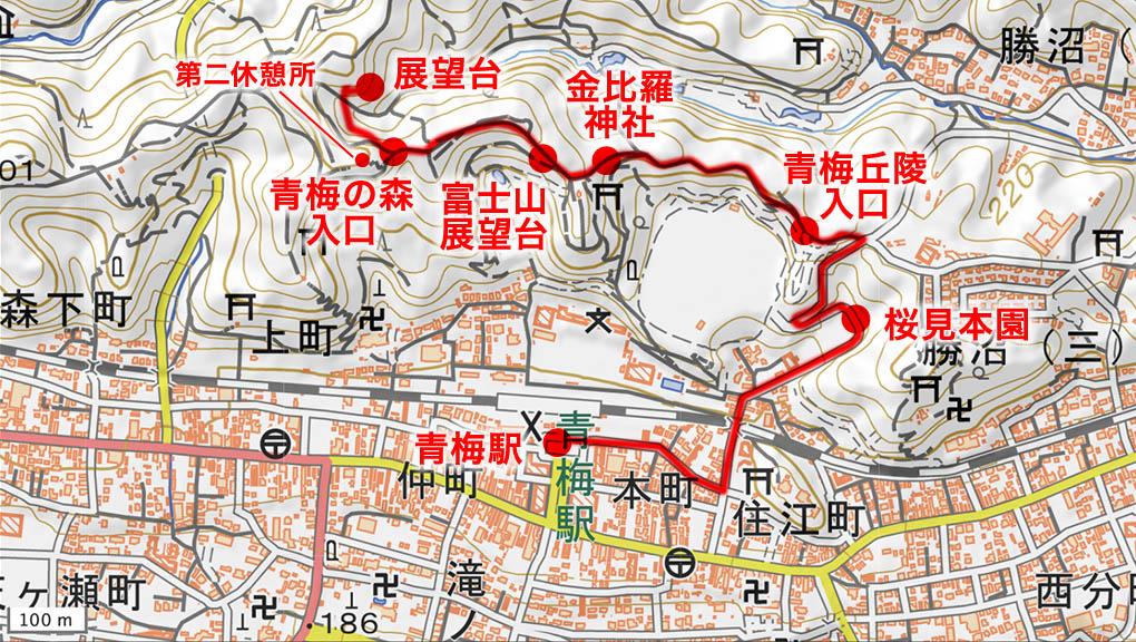 青梅市・永山公園地図