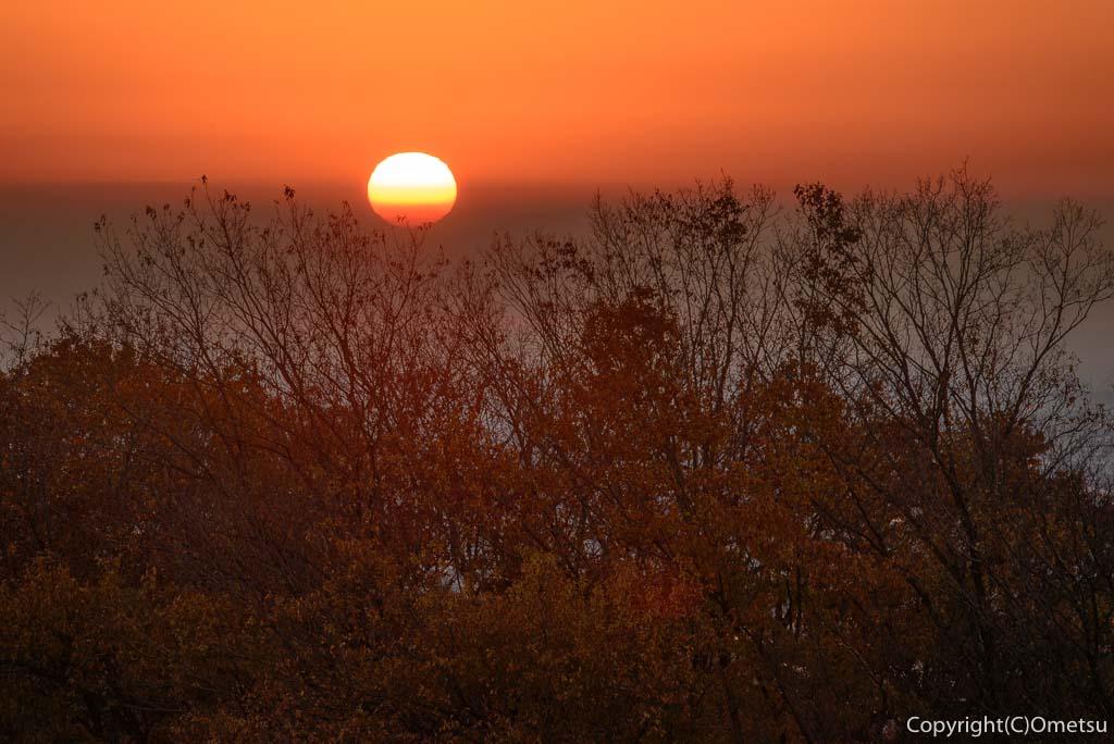 青梅市・永山公園・展望台からの日の出