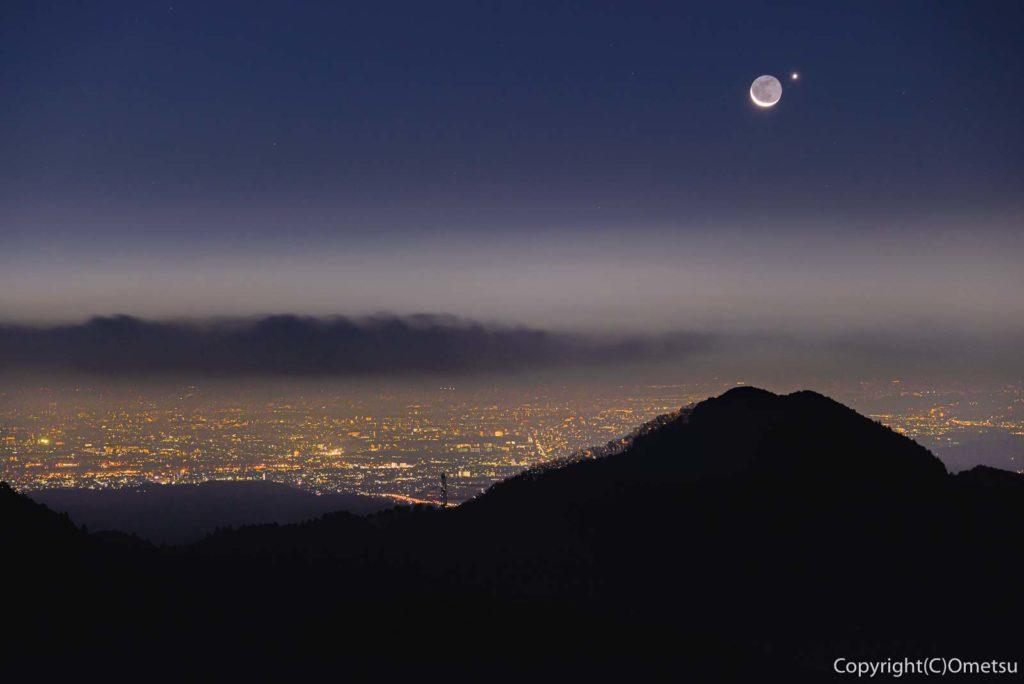 青梅市・御岳山・長尾台展望台からのと夜景