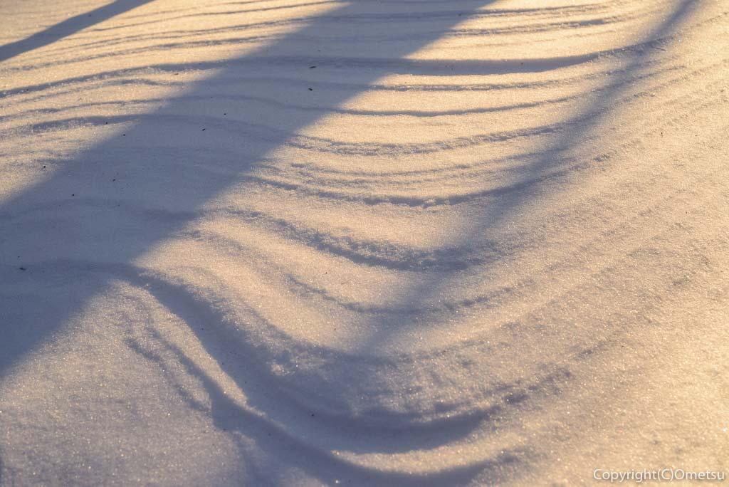 雲取山の雪紋