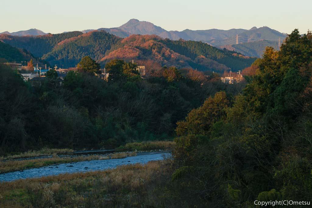 青梅市・下奥多摩橋から大岳山・御岳山