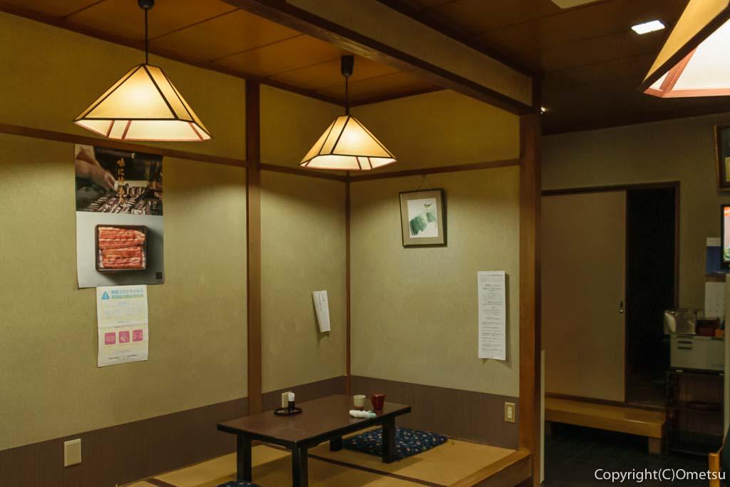 青梅市の日本料理店、金時