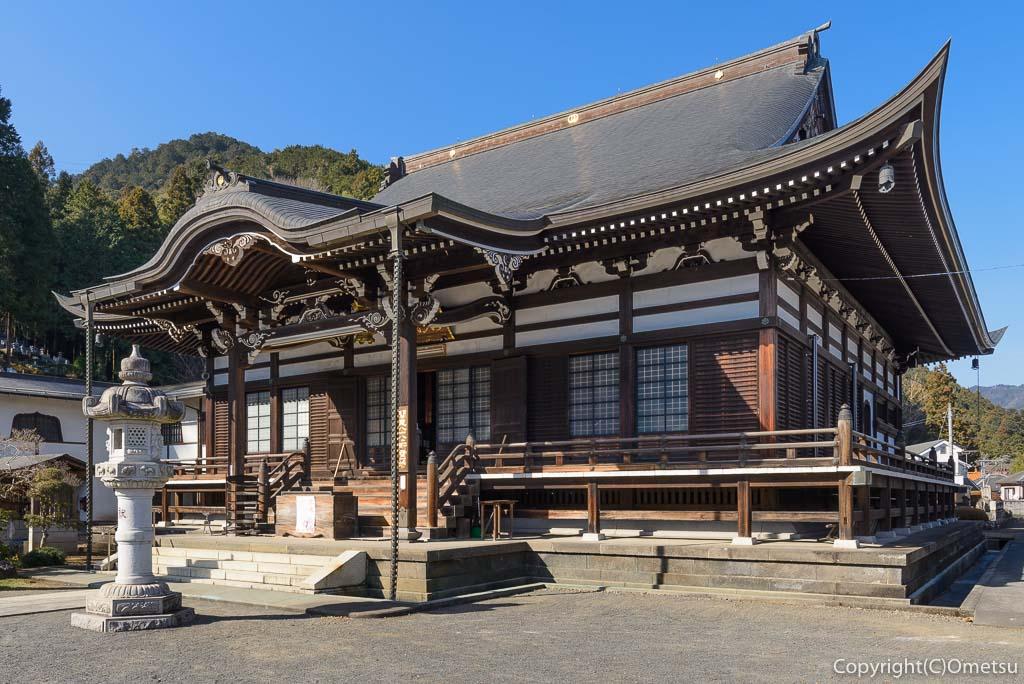 青梅市・即清寺の本堂