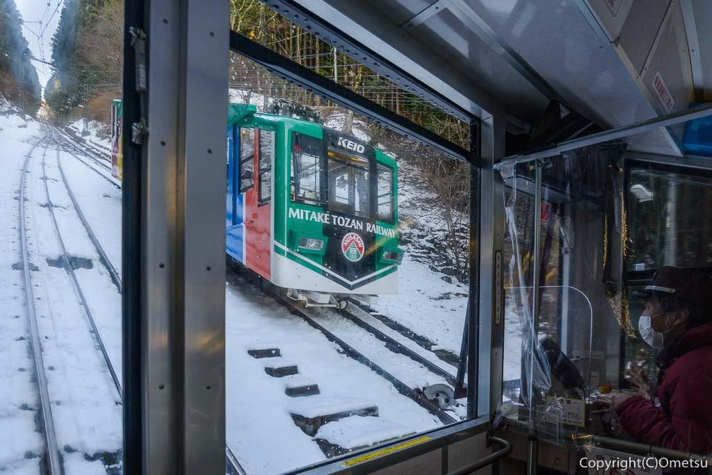 青梅市・御岳山ケーブルカーの雪景色