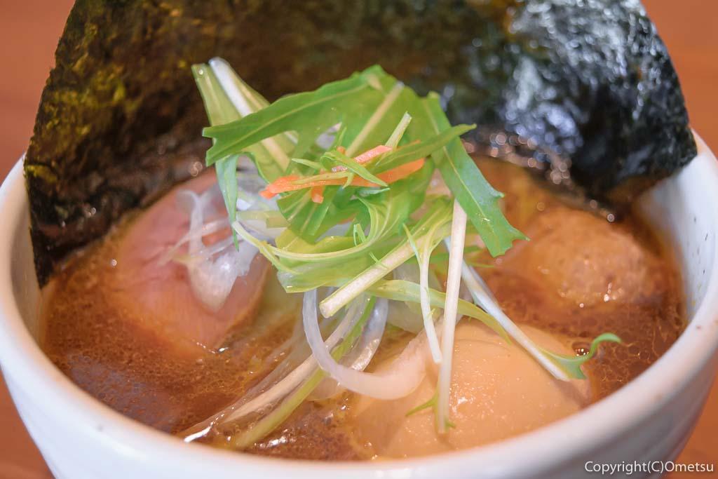 青梅市・河辺の、つけ蕎麦KATSURAの、かもだしスペシャル