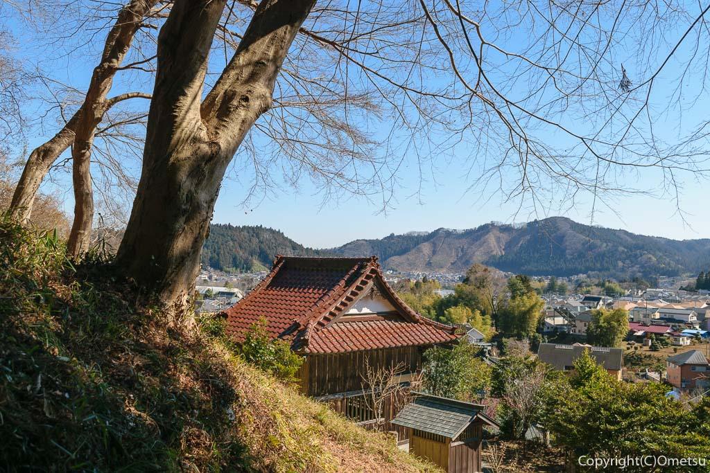 青梅市・梅郷の天澤院・菅原神社の裏山からの展望