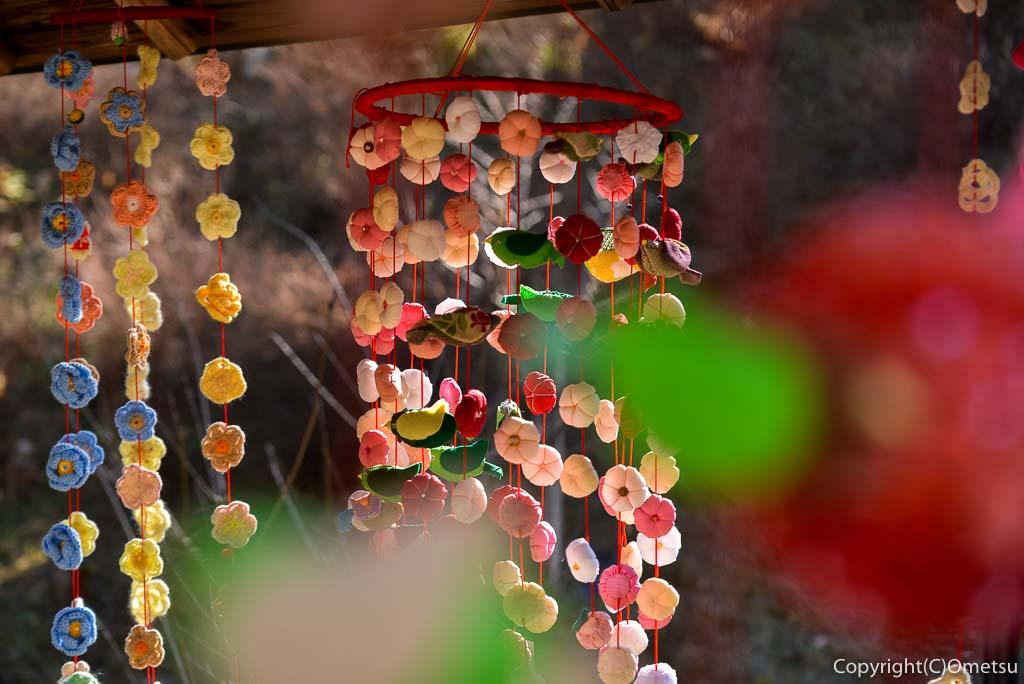 青梅市・梅の公園の梅かざり