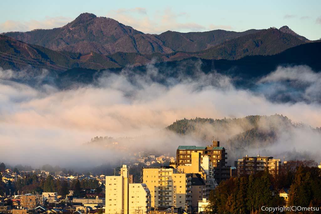 青梅市の朝霧
