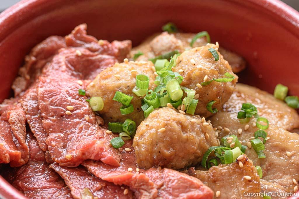 青梅市・御岳のステーキ店 NAMAの、オールスター丼