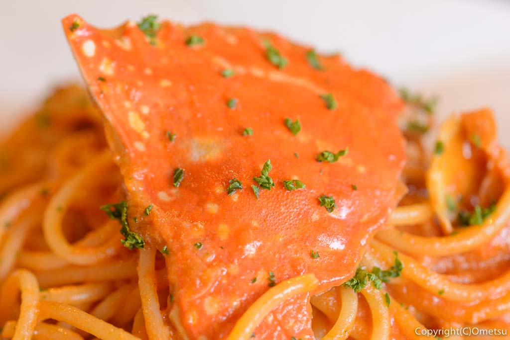 青梅市・梅郷のイタリアンレストラン・ヒバチヤの渡りガニのスパゲティ