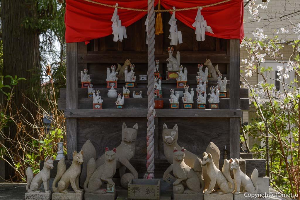 福生市、熊川神社のお稲荷さん