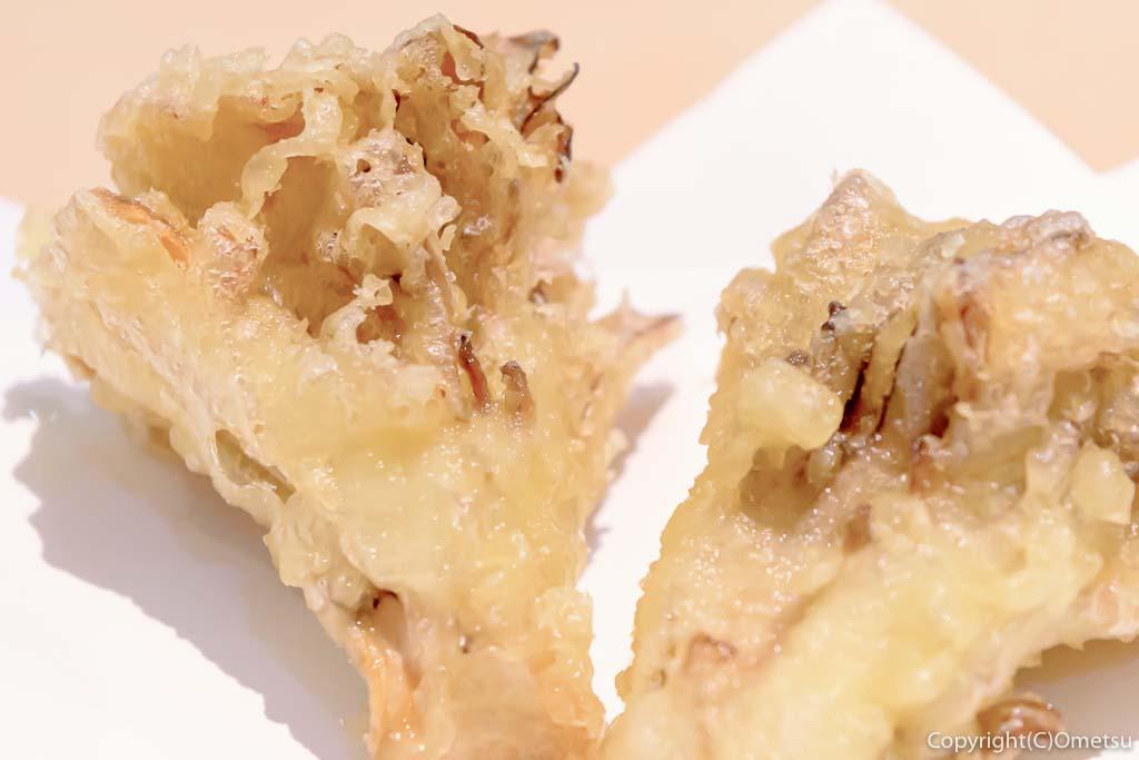 蕎麦ダイニング克の、マイタケの天ぷら
