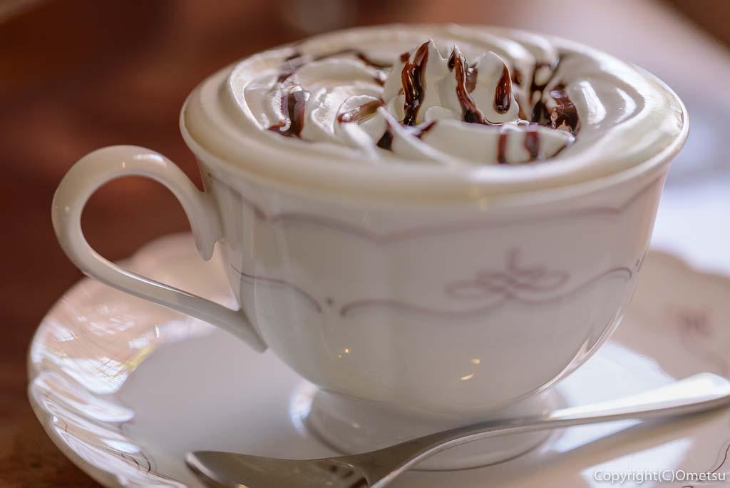 青梅市のカフェ・ウォールナットのウインナーコーヒー