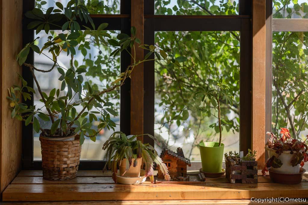 青梅市のカフェ・ウォールナットの窓