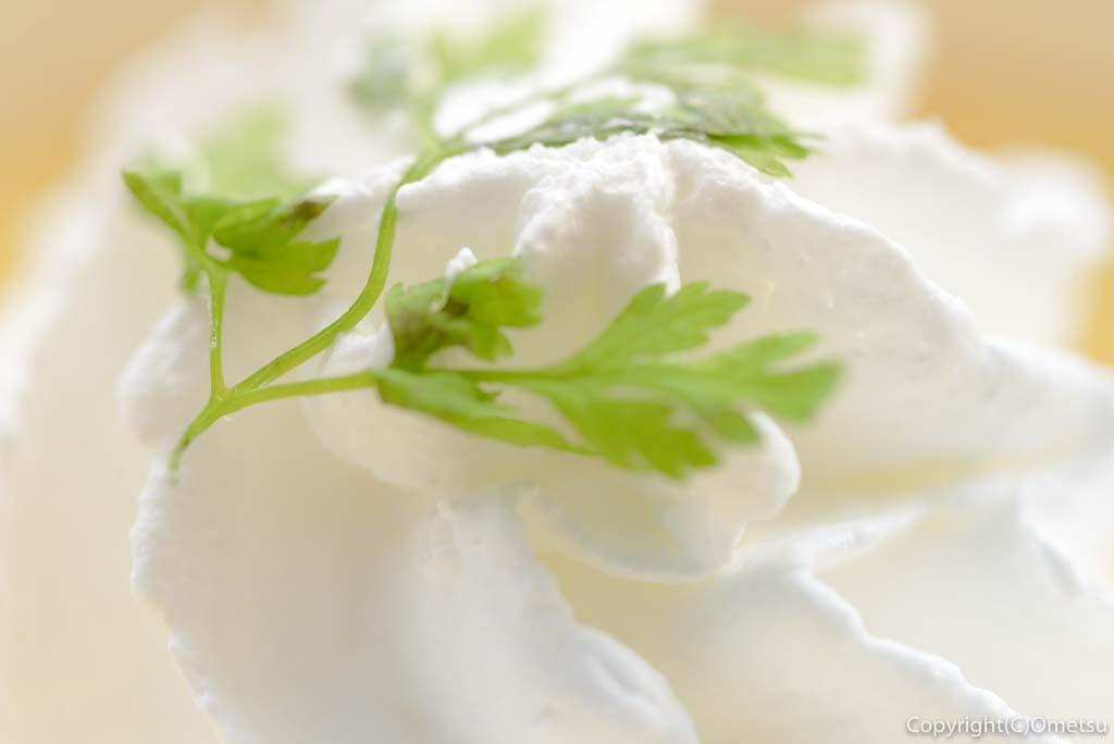 わんダフルネイチャーヴィレッジ。 カフェ&レストラン・AZEKIRI(アゼキリ)の、さくらたまごの、焼きプリンのクリーム