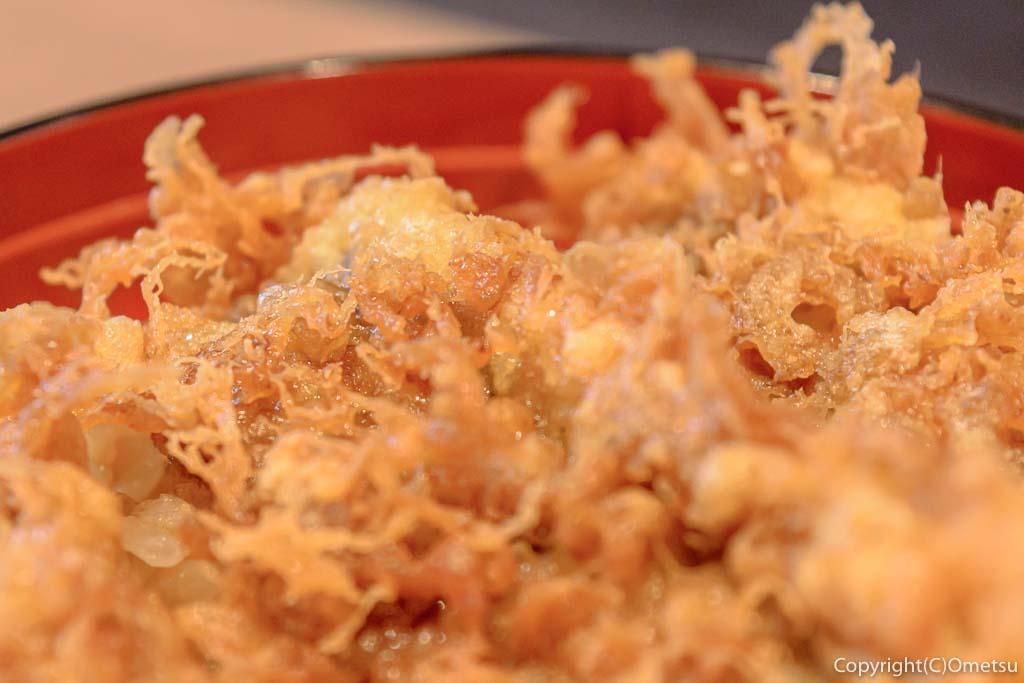 青梅市・河辺の「天ぷら・うなぎ 山中」のランチ・穴子天丼
