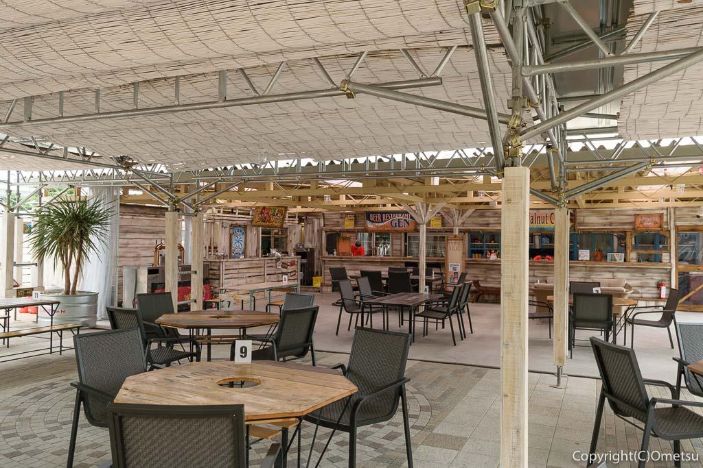 日の出町の屋台レストラン・Sunday Village(サンデービレッジ)のオープンスペース