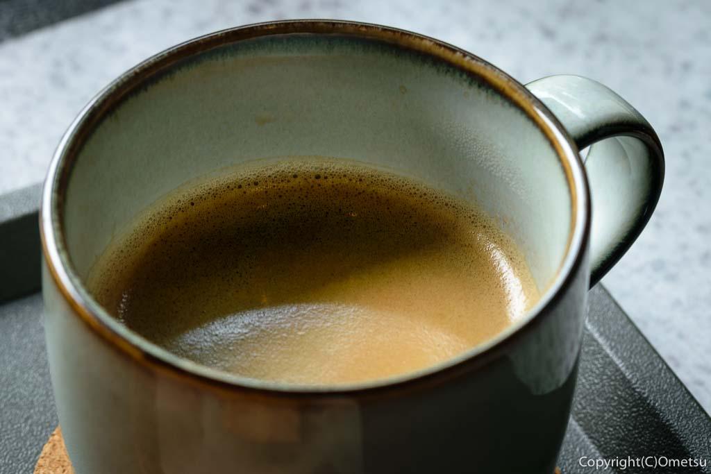 奥多摩町の玉翆荘の中の「古本と喫茶・おくたま文庫」の、コーヒー