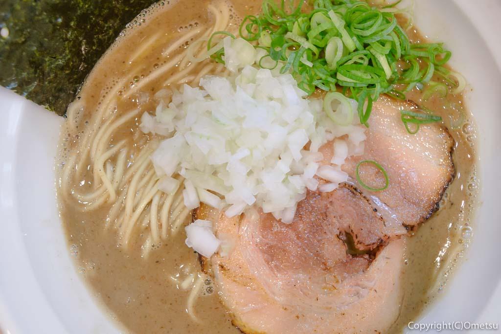 羽村市のラーメン店、煮干乃宴の、濃厚煮干ラーメン
