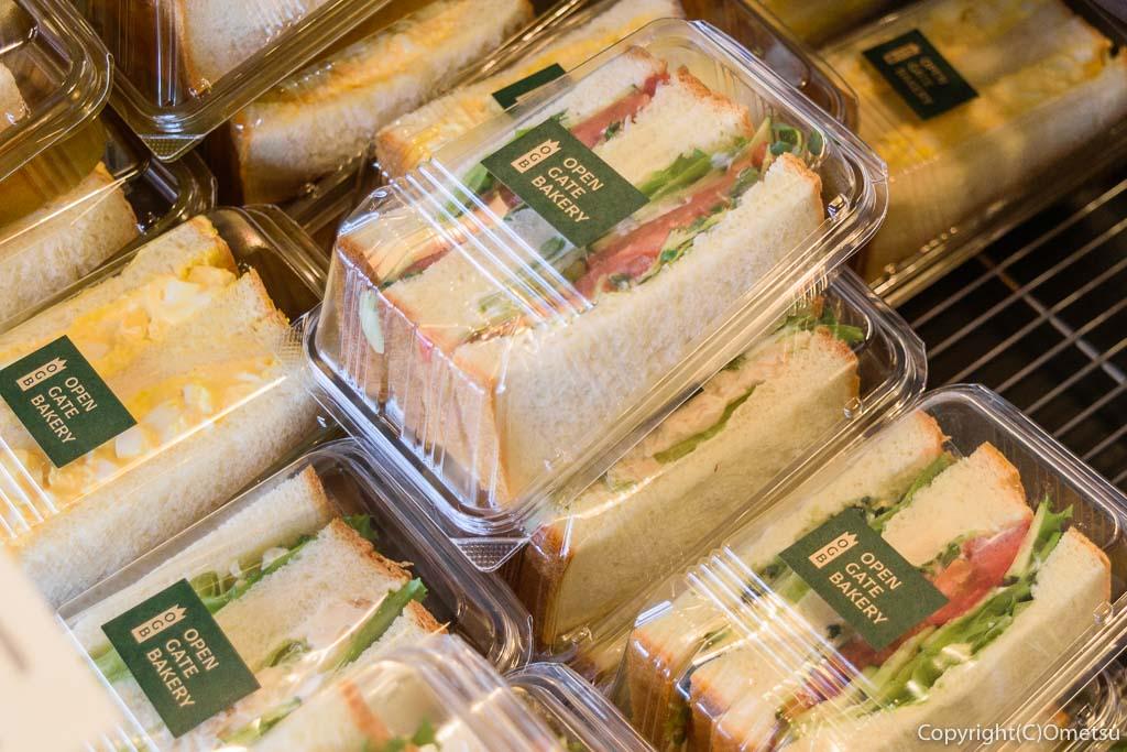 羽村市のパン店・オープンゲートベーカリー(OPEN GATE BAKERY)の、サンドイッチ