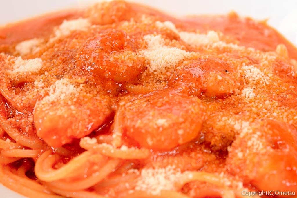 福生市役所近くのレストラン、A'goo(ア・グー)の、スパゲッティランチBの海老のトマトクリームソーススパゲッティ