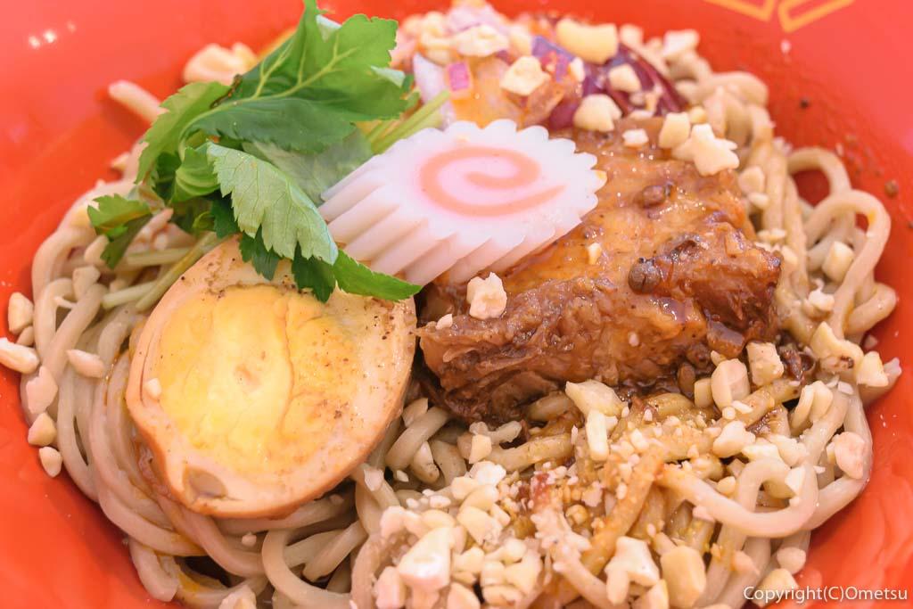 羽村市の、まぜそば・カレー専門店、「チリン☆ドロン」の魯肉(ルーロー)まぜそば