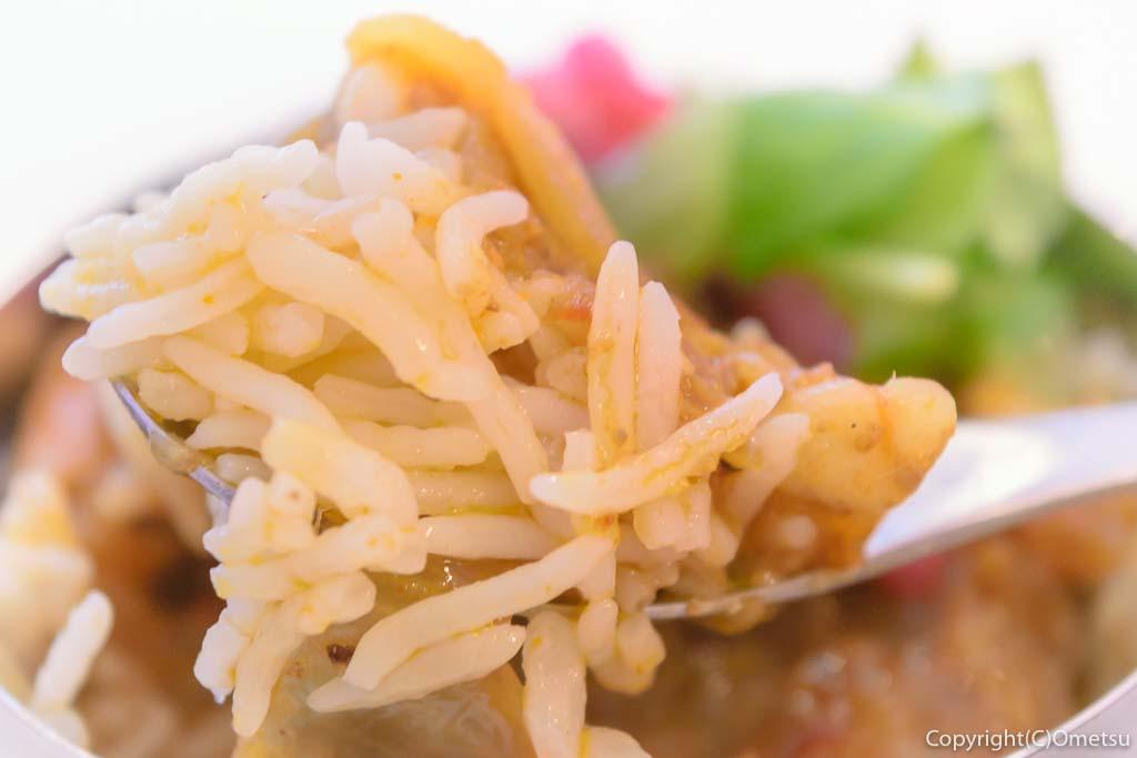 羽村市の、まぜそば・カレー専門店、「チリン☆ドロン」の、カレーのライス